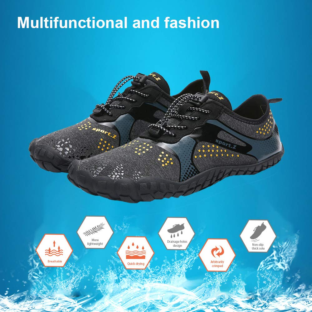 softome Mens Womens Water Shoes Quick Dry Barefoot for Beach Swim Surf Diving Aqua Outdoor Exercise Shoes Lightweight Water Shoes HYP004
