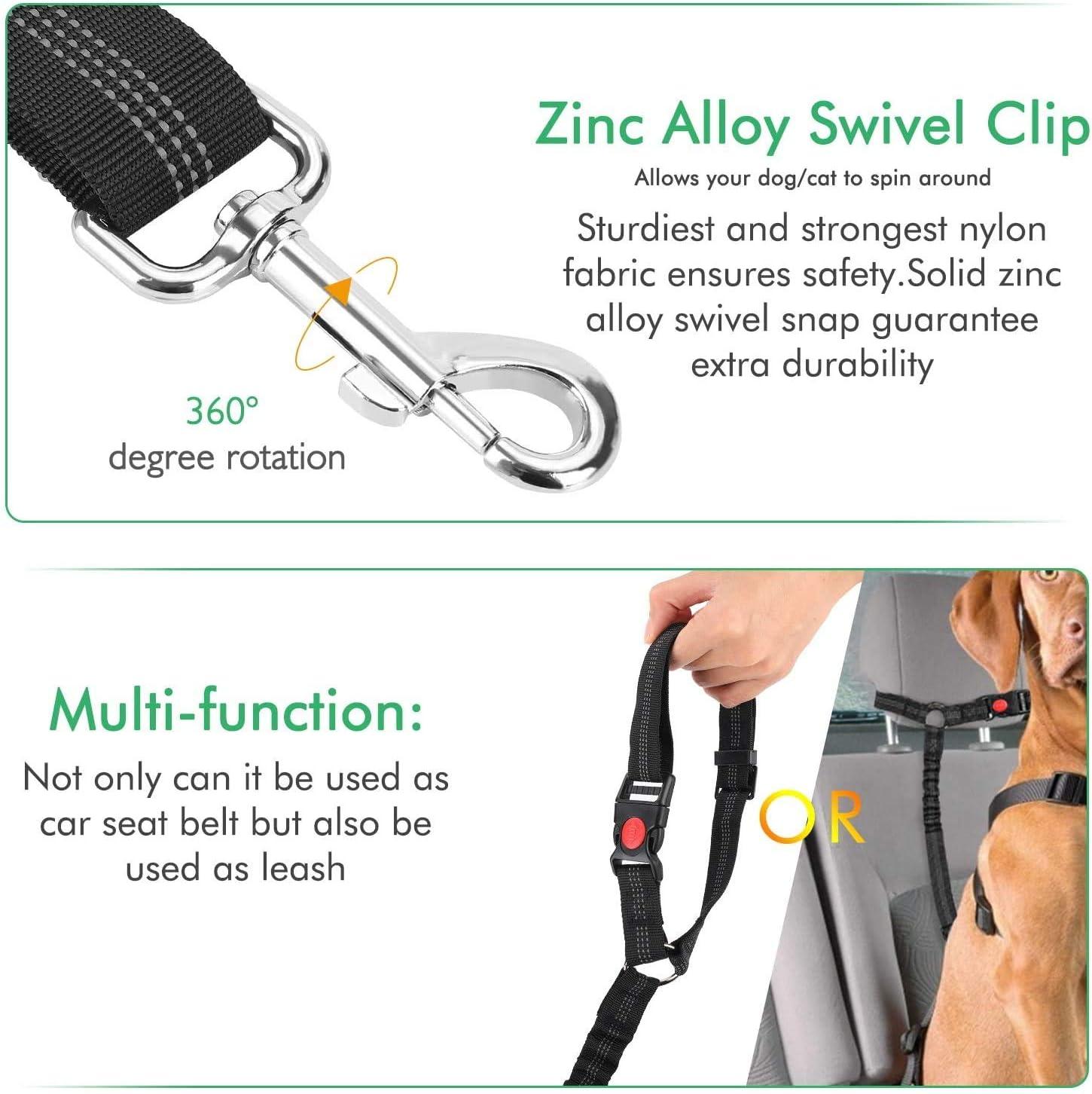 AODENER Cinturón de seguridad para perros y mascotas, arnés de seguridad de coche, arnés ajustable para perros de seguridad, para uso diario de viaje, ...