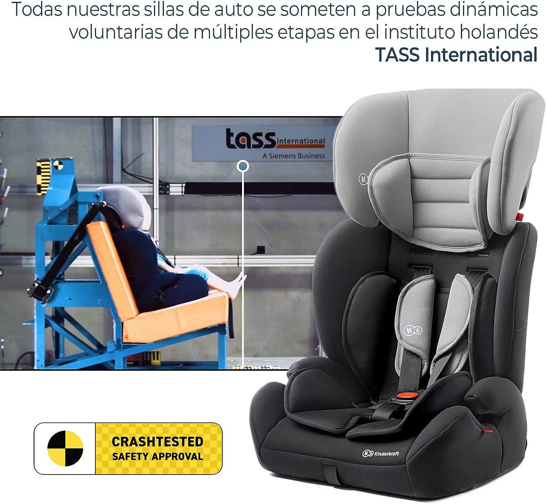 9-36 kg Gris Kinderkraft Silla de Coche Ajustable CONCEPT Grupo 1//2//3