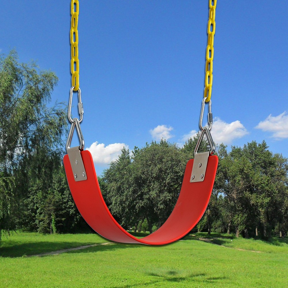 300kg //660 LB Weight Limit AGPTEK 77.2150.7cm Swing Seat with Metal Triangle Ring Blue