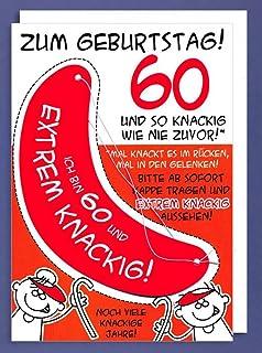 Geburtstagskarte Xxl Zum 60 Geburtstag Witzig Umschlag Amazon