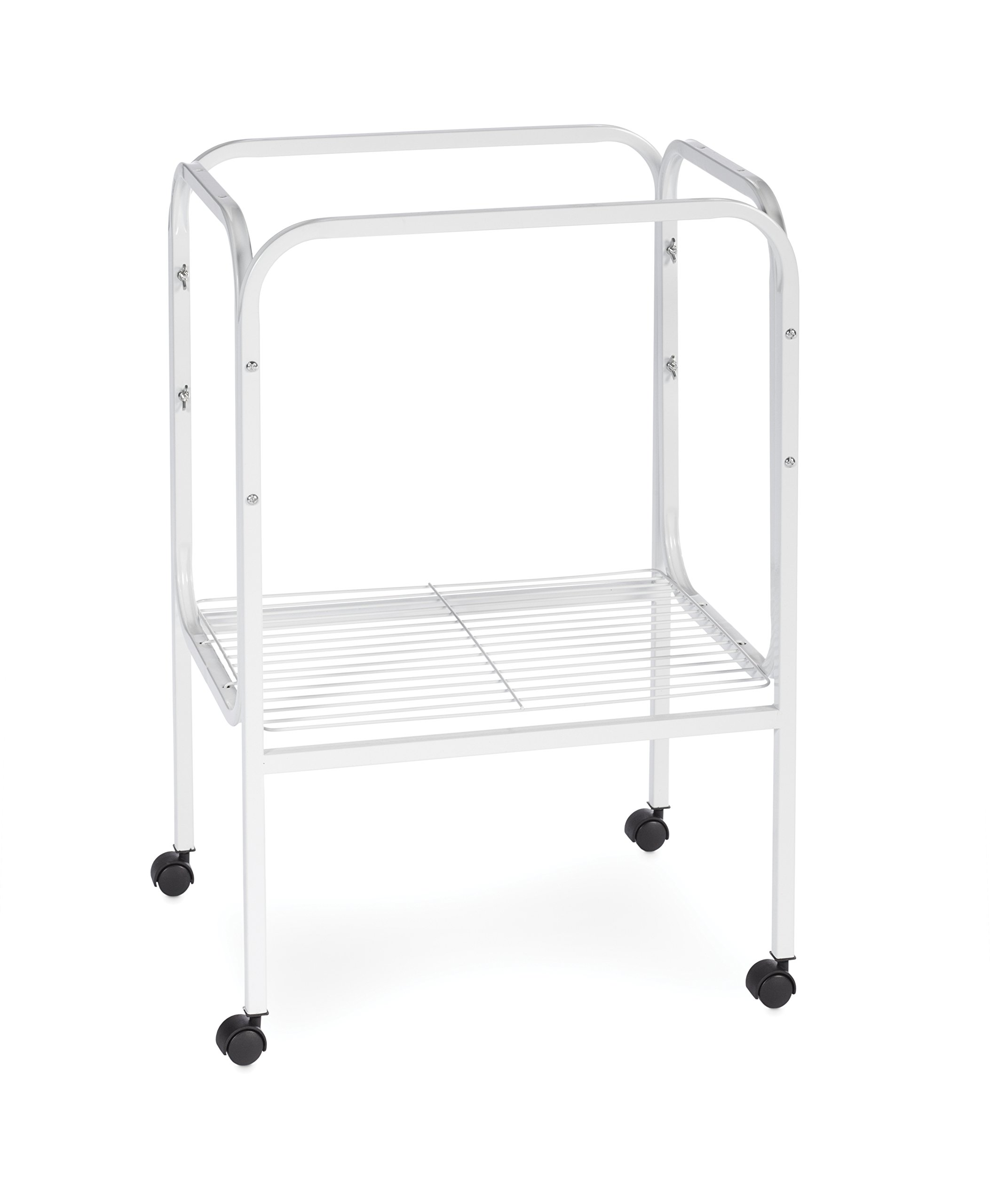 Prevue Pet Products SP444W Bird Cage Stand with Shelf, White by Prevue Pet Products
