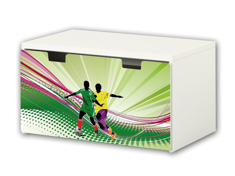 Football Furniture Film | BT05 | Furniture sticker with butterfly Motive | matching to the children's storage bench STUVA of IKEA (90 x 50 cm) STIKKIPIX®