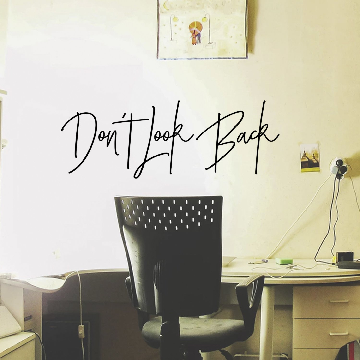 Vinyl Wall Art Decal - Don't Look Back - Motivational Quote - 10'' x 28'' - Inspirational Life Quote Sayings Home Decor Living Room Bedroom Office Work - Removable Sticker Decals