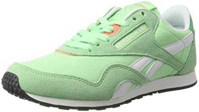872793cce71 Reebok Classic Nylon Slim HV Womens Sneakers Shoes-Green-6.5