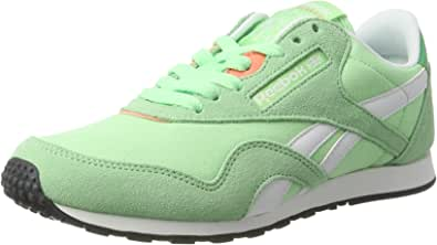 Reebok Classic Nylon Slim HV Womens Trainers/Shoes - Green