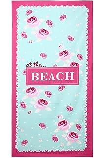 DSstyles Toalla de playa microfibra toalla de baño extra grande para spa nadar deportes yoga sol…