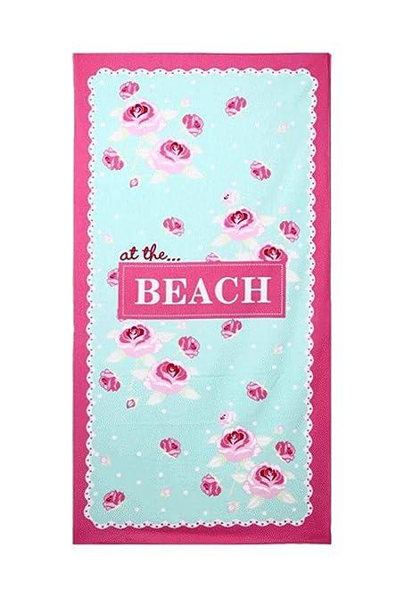 DSstyles Toalla de playa microfibra toalla de baño extra grande para spa nadar deportes yoga sol