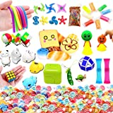 Leeche The Ultimate Sensory Toy Fidget Toys Value Bundle 33 Packs for School Mochi Squishies Toys/Squeeze Bean/Twisted Toy Adults&Kids Conform ASTM Toy Standard Stress Relax Prime