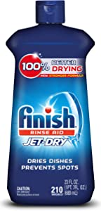 Finish Jet-Dry Aid, 23oz, Dishwasher Rinse Agent & Drying Agent, 23 Fl Oz (Pack of 1), Plum & Navy