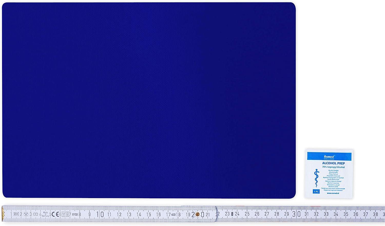 Flickly Anhänger Planen Reparatur Pflaster In Vielen Farben Erhältlich 30cm X 20cm Selbstklebend Ultramarineblau Auto