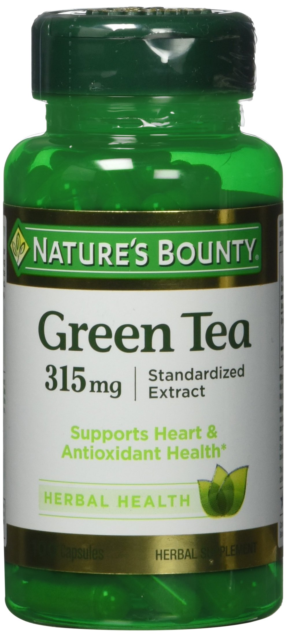 Nature's Bounty Green Tea Extract 315 mg (Contains EGCG), 200 Capsules (2 X 100 Count Bottles)