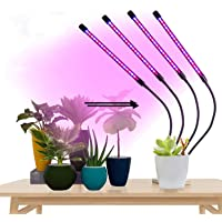 LED Grow Lights for Indoor Plants, GUHIDO 4 Heads Full Spectrum Plant Lights with Auto ON/Off 3/9/12H Timer, 9 Dimmable…