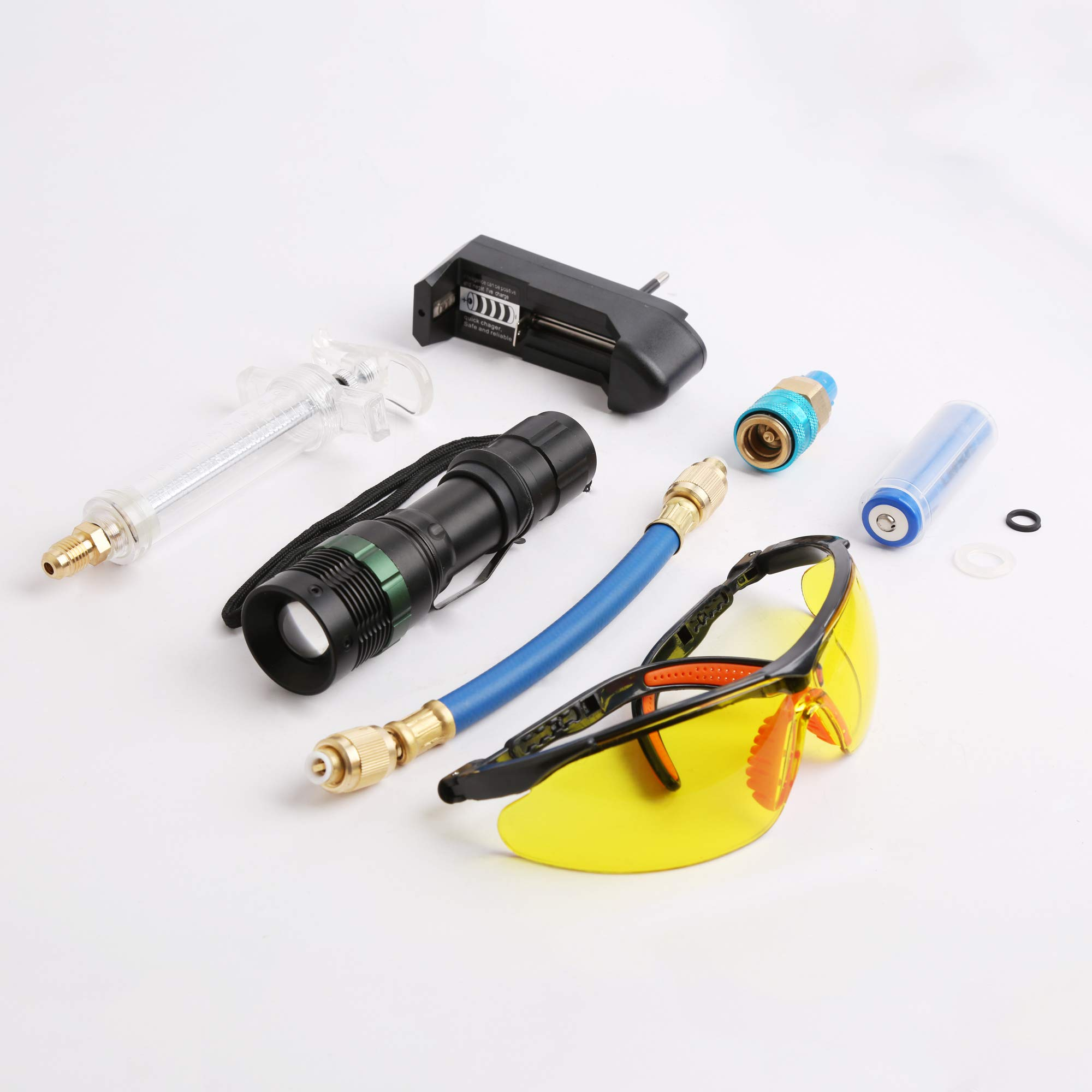 WINTOOLS 3W UV Leak Detector Led Lamp Set Rechargeable Battery Air Con Engine Gearbox Set by WINTOOLS (Image #3)