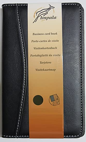 Impala black leather look business card wallet holder 72 card impala black leather look business card wallet holder 72 card capacity reheart Choice Image