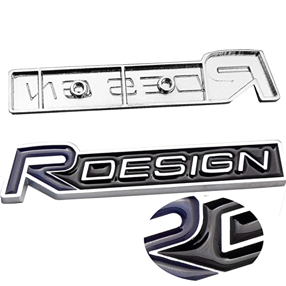 Duoles New 3D Car Logo Car Emblem Chrome Stickers Decals Badge Labeling for Volvo XC70 V50 C30 S60 V70 SEE Emblem Chrome,Pack of 2