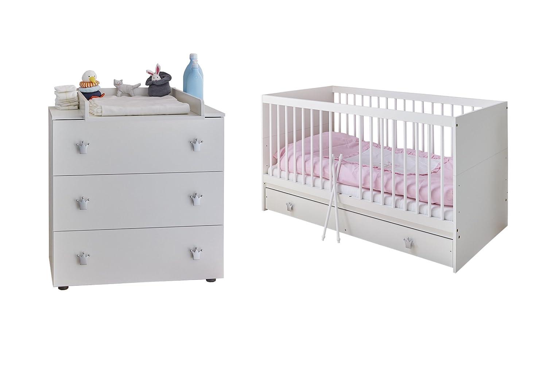 TICAA Babyzimmer Paula 3-teilig Weiß
