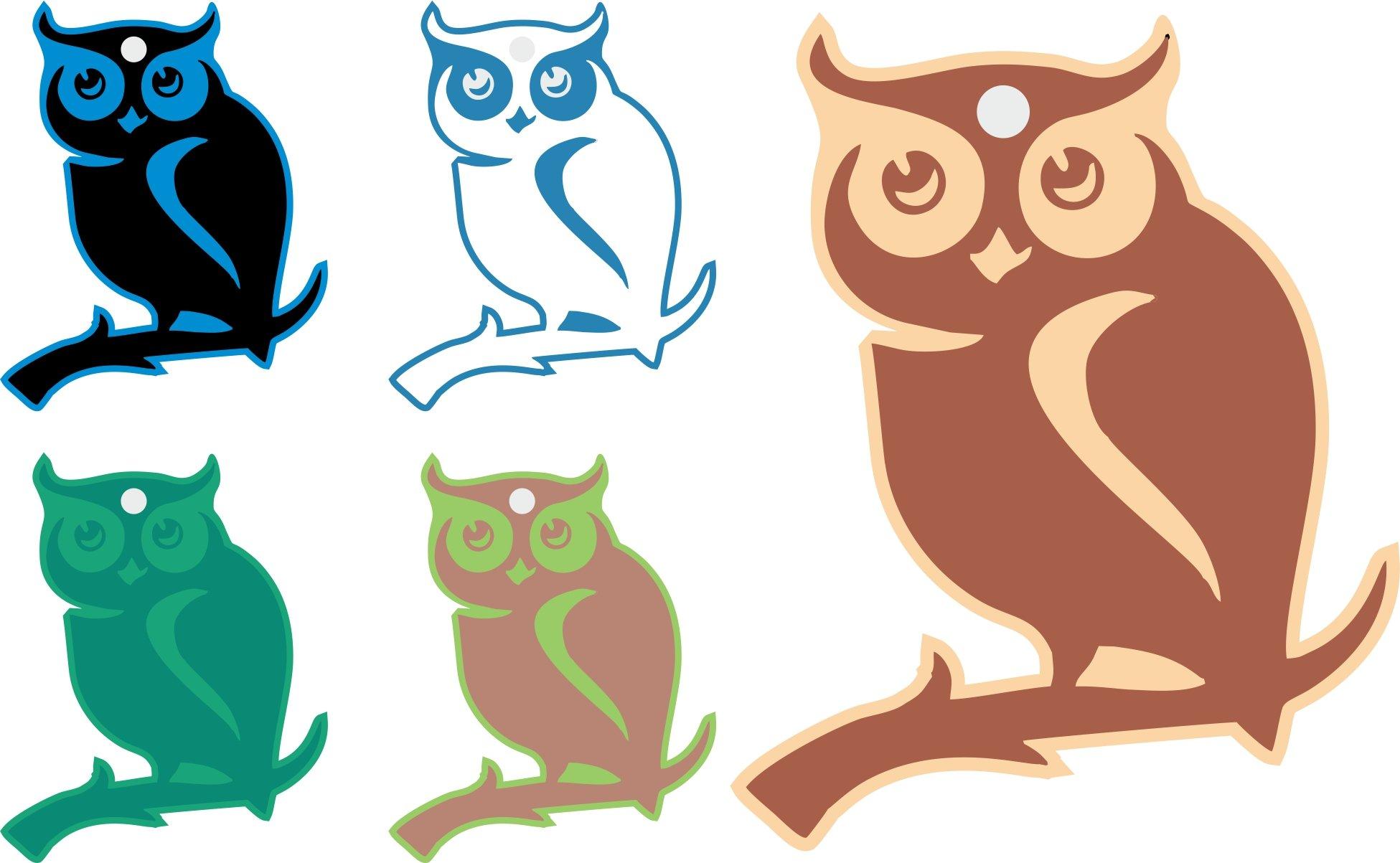 Digitally Printed Owl Hang Tag Set Assorted Paper DIY Craft Anniversary Gift Tag