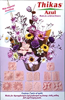 Renkalik Thikas - Moldes Azules para Flores, Contiene 7 Pares de moldes