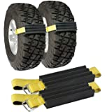 TRACGRABBER Tire Traction Device for Snow, Mud and Sand – for Trucks and Large SUVs, Set of 2 – Easy to Install, Get…