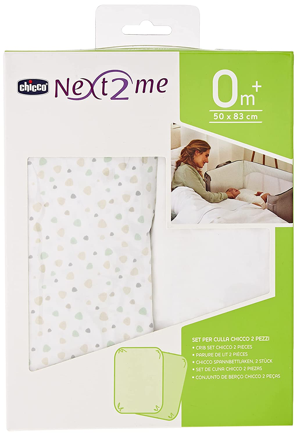 Chicco Next 2 Me Pack of 2 Crib Sheets