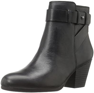 Aerosoles Women's Inevitable Ankle Bootie, Black Leather, ...