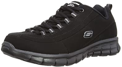 Skechers Sport Women's Trend Setter Fashion Sneaker,Black/Black,5 ...