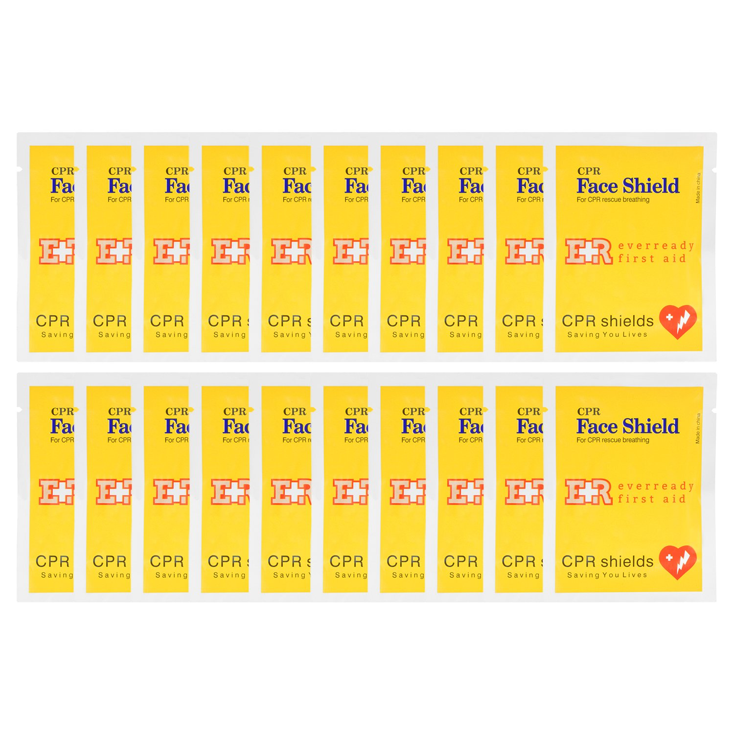 Ever Ready First Aid CPR Face Shield - 20 Pack