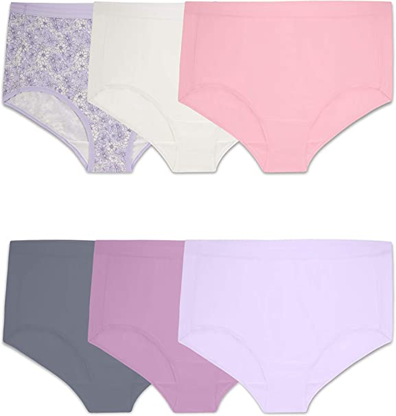 6 Pack New Fruit of the Loom Girl/'s Microfiber Briefs Underwear