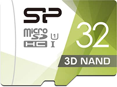 Silicon Power 32GB 3D NAND High Speed MicroSD Card with Adapter