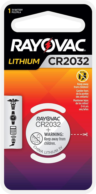 RAY-O-VAC KECR2032-1C 3V LITHIUM BATTERY