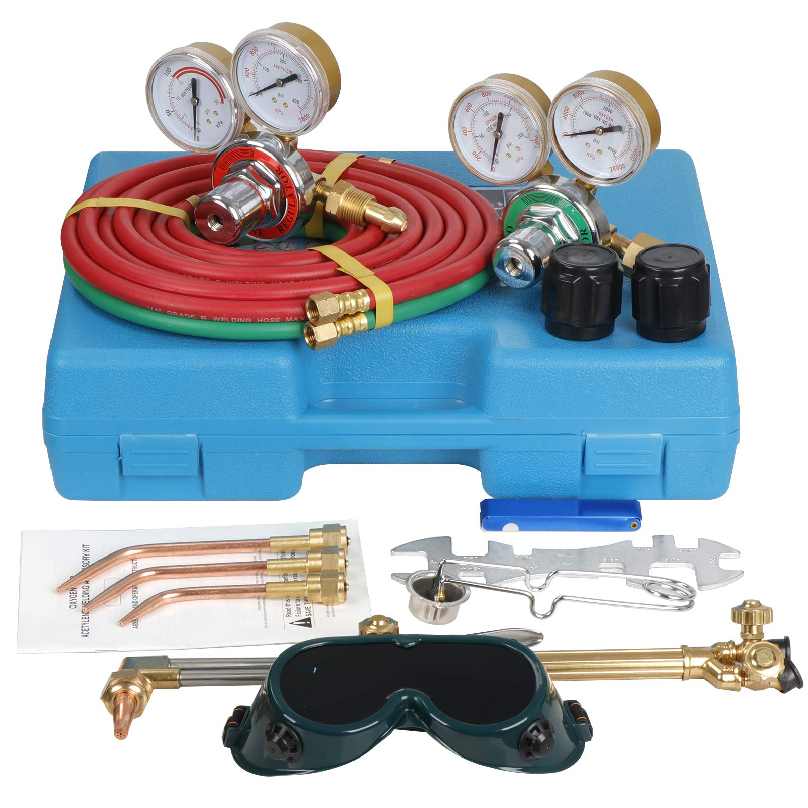 Professional Gas Welding Cutting Torch Kit Hose Portable Oxy Acetylene Brazing