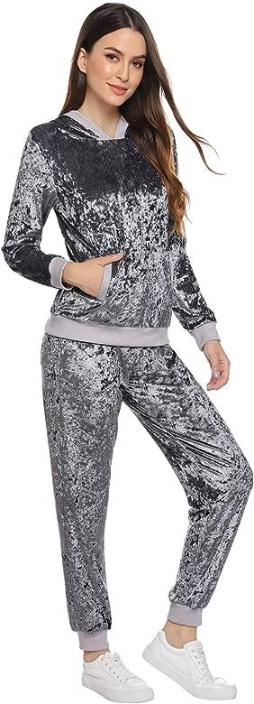 Pantalones Largo Conjunto Aibrou Ch/ándal Deportivo para Mujer 2 Piezas,Ch/ándal de Ocio Casual Oto/ño Invierno,Ropa de Casa Hoodie Comodo y Suave Pullover Sudadera con Cord/ón