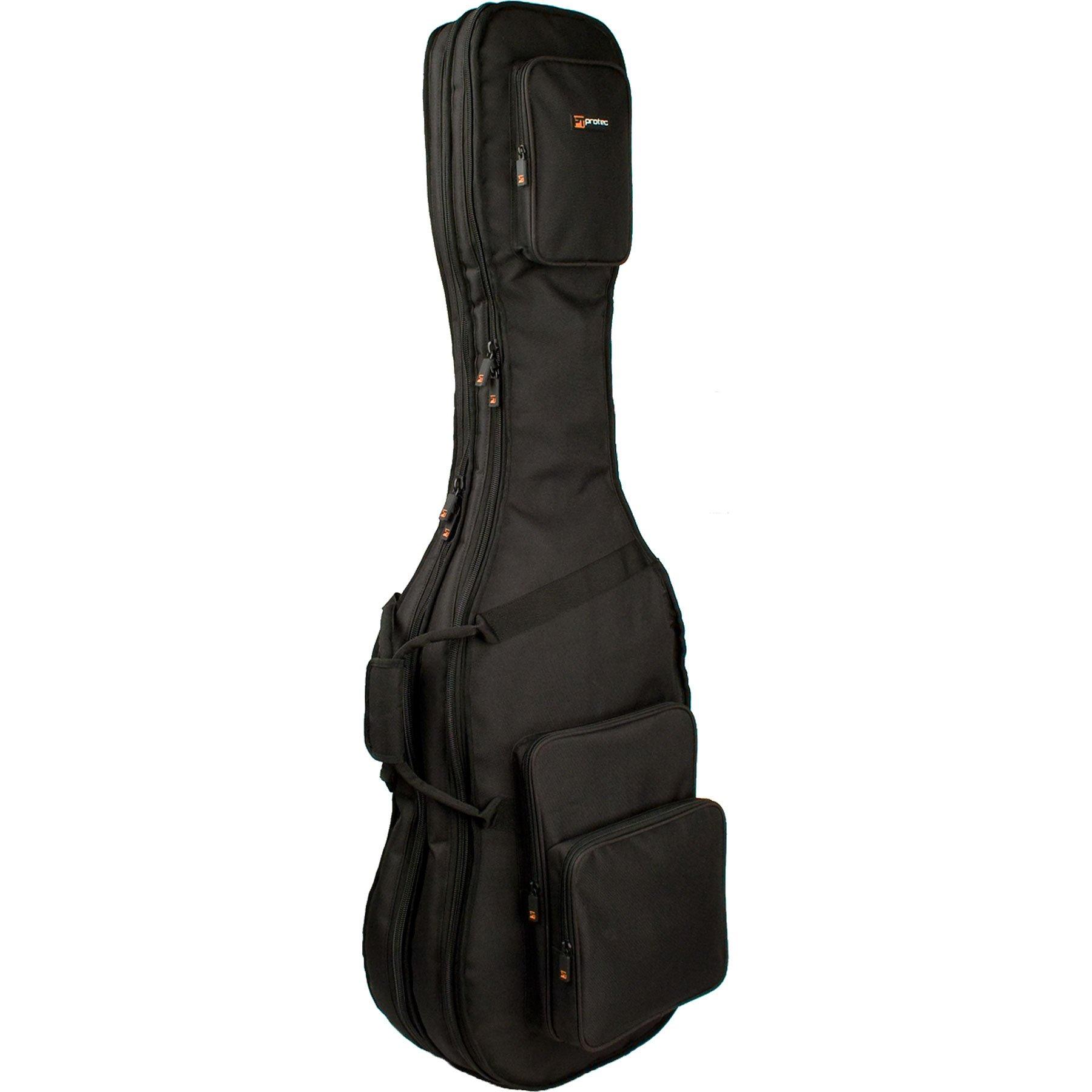 Pro Tec CF233DBL Double Bass Guitar Gig Bag - Gold Series