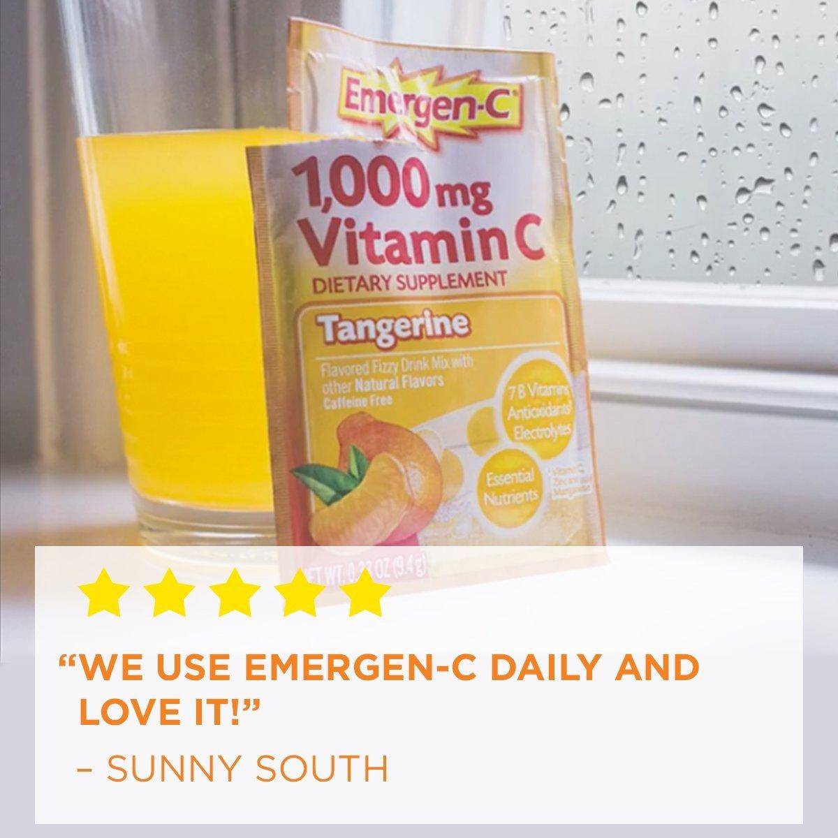Emergen-C 1000mg Tangerine Flavour Drink 30 Sachets: Amazon.es: Salud y cuidado personal