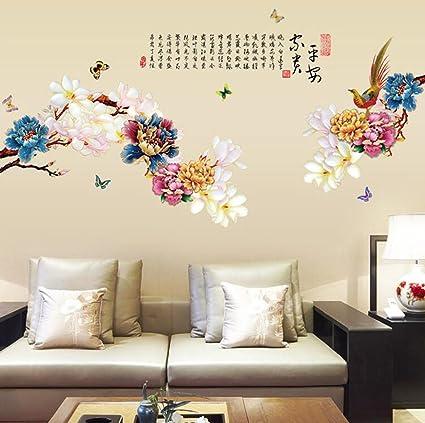 Longless Cina parete vento adesivo, camera da letto a parete ...
