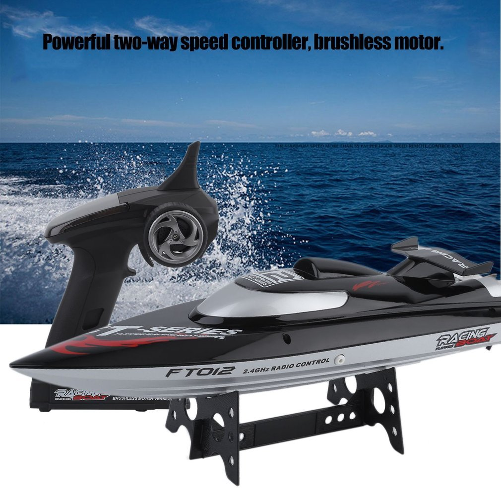 Brushless Racing Boat Reach 28mph Blackpoolfa 2nd Gen Professional Series Upgrade FT012 2.4G 4CH Remote Control High-Speed RC Boat Automatically Flip Great Gift 4 Channel