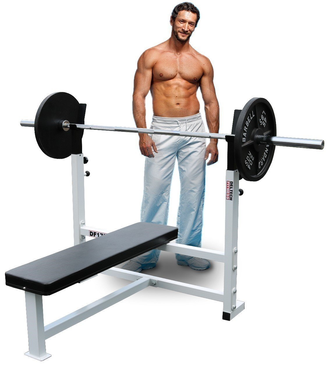 Deltech Fitness Flat Olympic Weight Bench