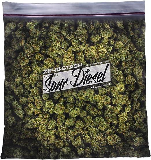 Baggie of Cannabis Weed Pillowcase Giant Stash