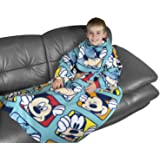 Character World Disney Mickey Mouse Play Sleeved Fleece Blanket, Multi-Color