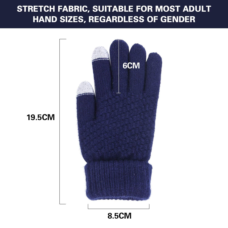 Touch Gloves f/ür Touchscreen Smartphone Handschuhe Warme Handschuhe Damen Herren Winter Handschuhe Touchscreen Handschuhe Kaschmir Drinnen Drau/ßen Fahrradhandschuhe