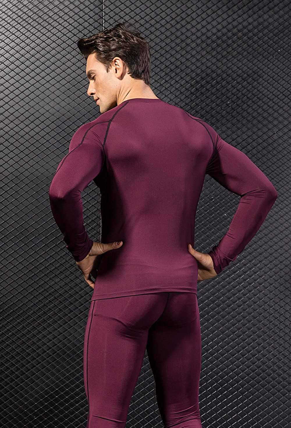 TONLEN Mens Long Sleeves T-Shirt Baselayer Cool Dry Compression Tops