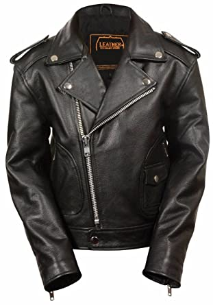 Amazon.com: Dona Michi Kids Unixes Genuine soft Leather Jacket ...