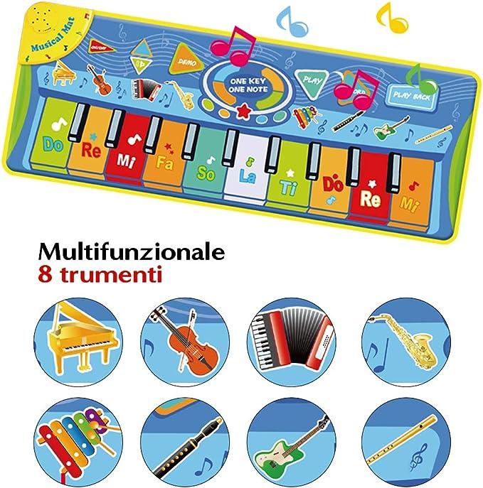 Anpro - Alfombrilla para piano – Alfombrilla musical para teclado ...