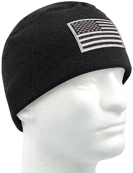 Amazon.com  Black Military Tactical Winter Polar Fleece Cap Beanie ... 20f63c2774b