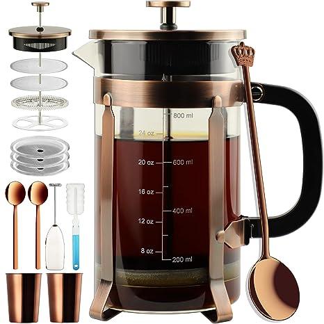Amazon.com: ADAMITA cafetera de prensa francesa 8 tazas 34 ...