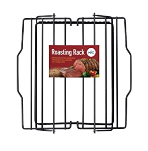 HIC Harold Import Co. 43183 Adjustable Non-Stick Roasting Rack, Chrome Wire 10-Inch