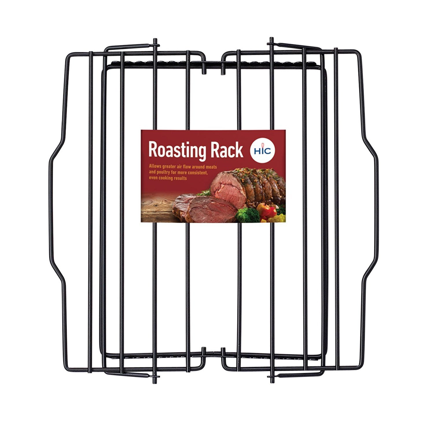 HIC Harold Import Co. 43183 Adjustable Wire Roasting Rack, Nonstick