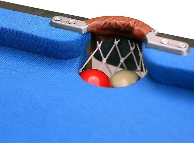 HLC Mesa de Billar Snooker (139.5 * 74.7 * 80 cm) Tapizado Azul,Ideal para la Familia!: Amazon.es: Juguetes y juegos