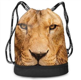 RAINNY Gym Drawstring Sports Bag Simple Quick Dry Bundle Backpack Lion